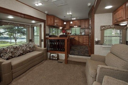 My dream camper interior big country luxury fifth wheel - Infinity fifth wheel front living room ...