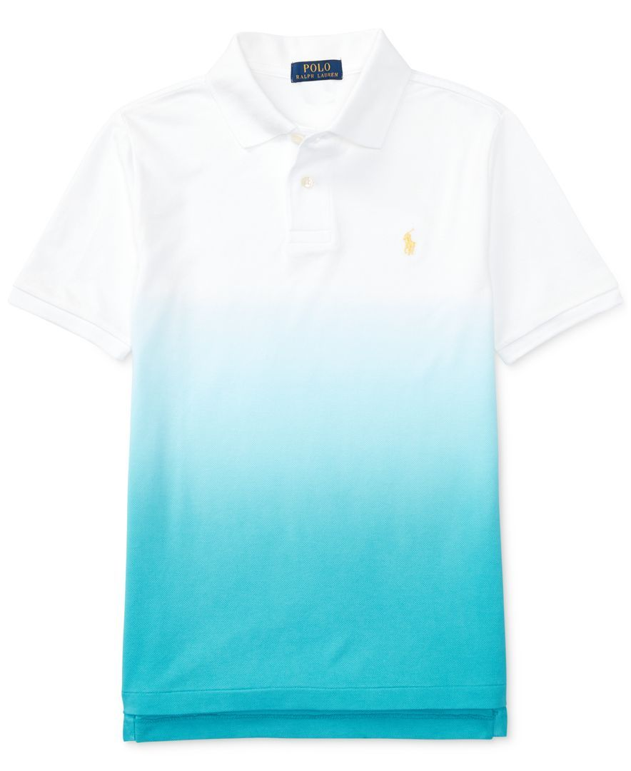 d1f33b03 Ralph Lauren Dip-Dyed Cotton Mesh Polo, Big Boys (8-20) | Products ...