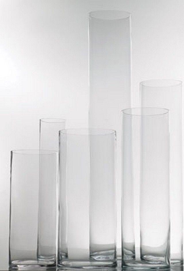 4 X 16 Cylinder Vase 4 Each 4 X 20 5 Each 4x 24 6