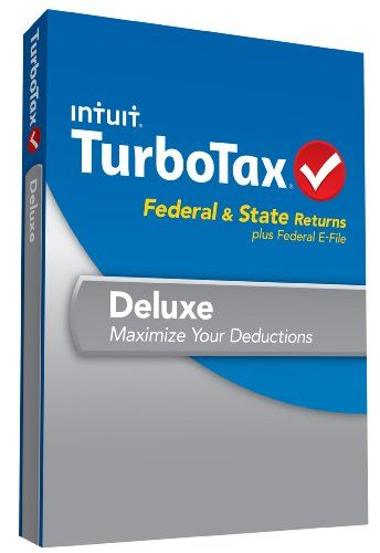 TurboTax Deluxe Fed, Efile and State 2013 with Refund