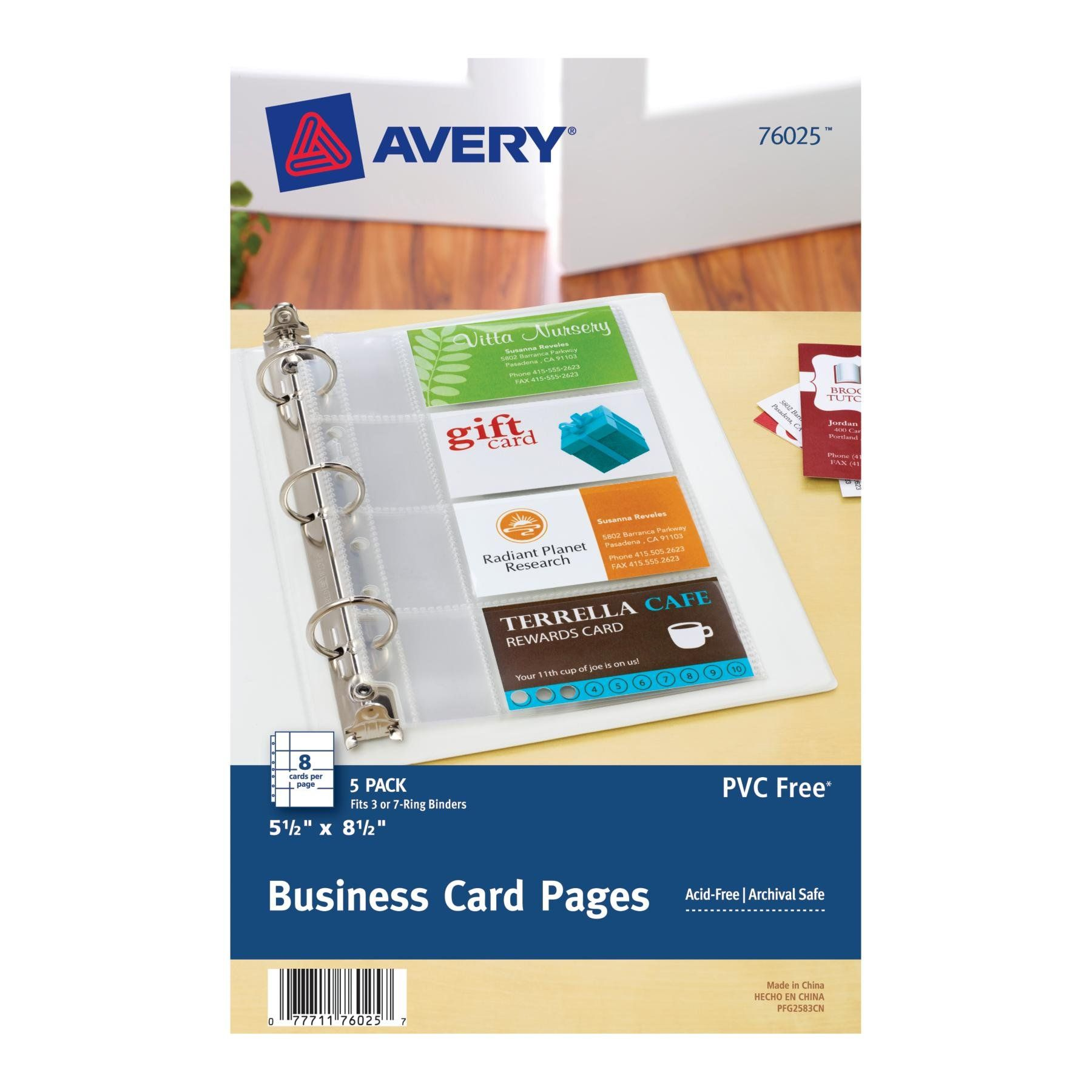 Avery Mini Business Card Pages, Clear, 5.5 X 8.5 Inches