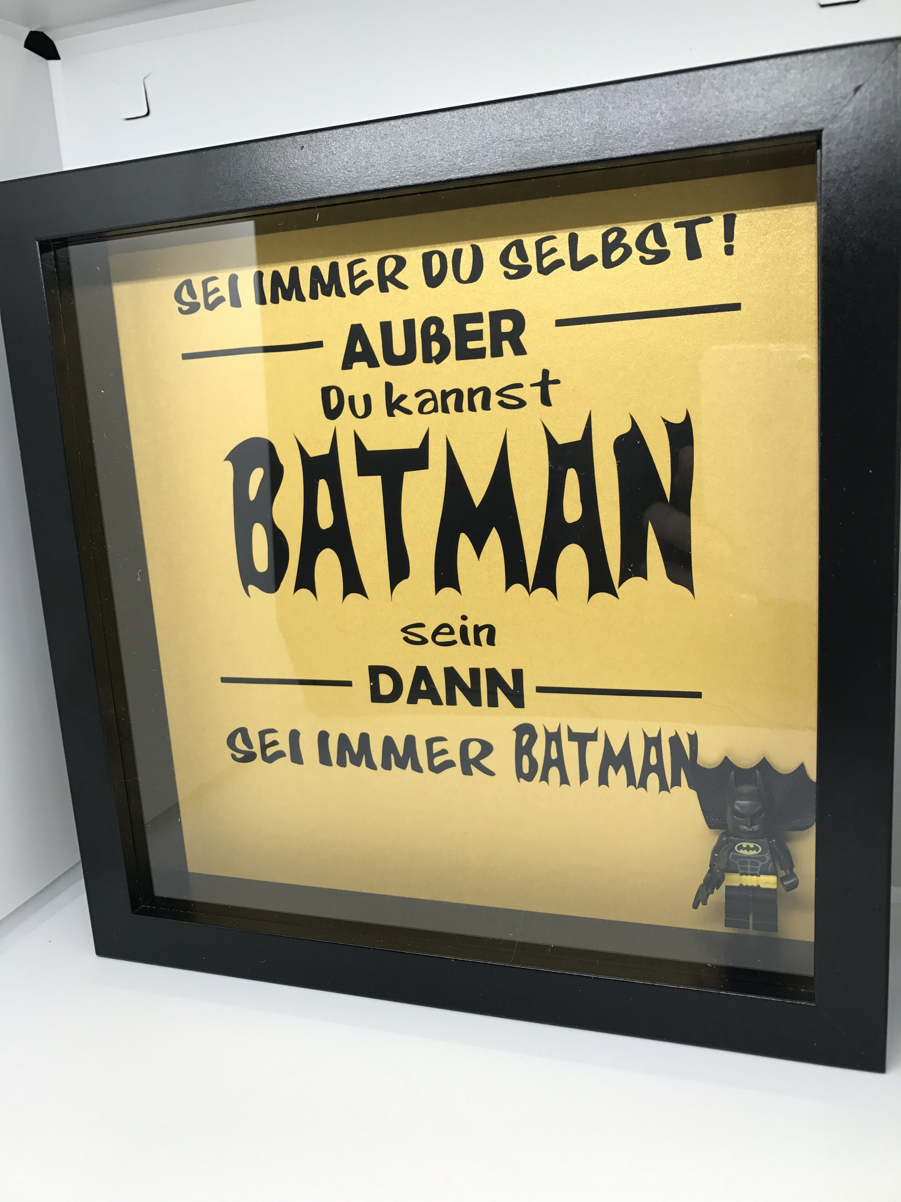 3D Rahmen Batman Legofigur Spruch Geschenk | Ribba Deluxe | Pinterest