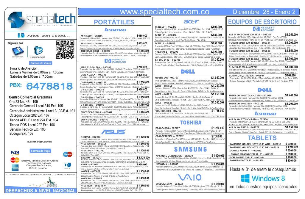 lista-depreciosspecialtechdiciembre282012 by Specialtech Octavio Gonzalez via Slideshare
