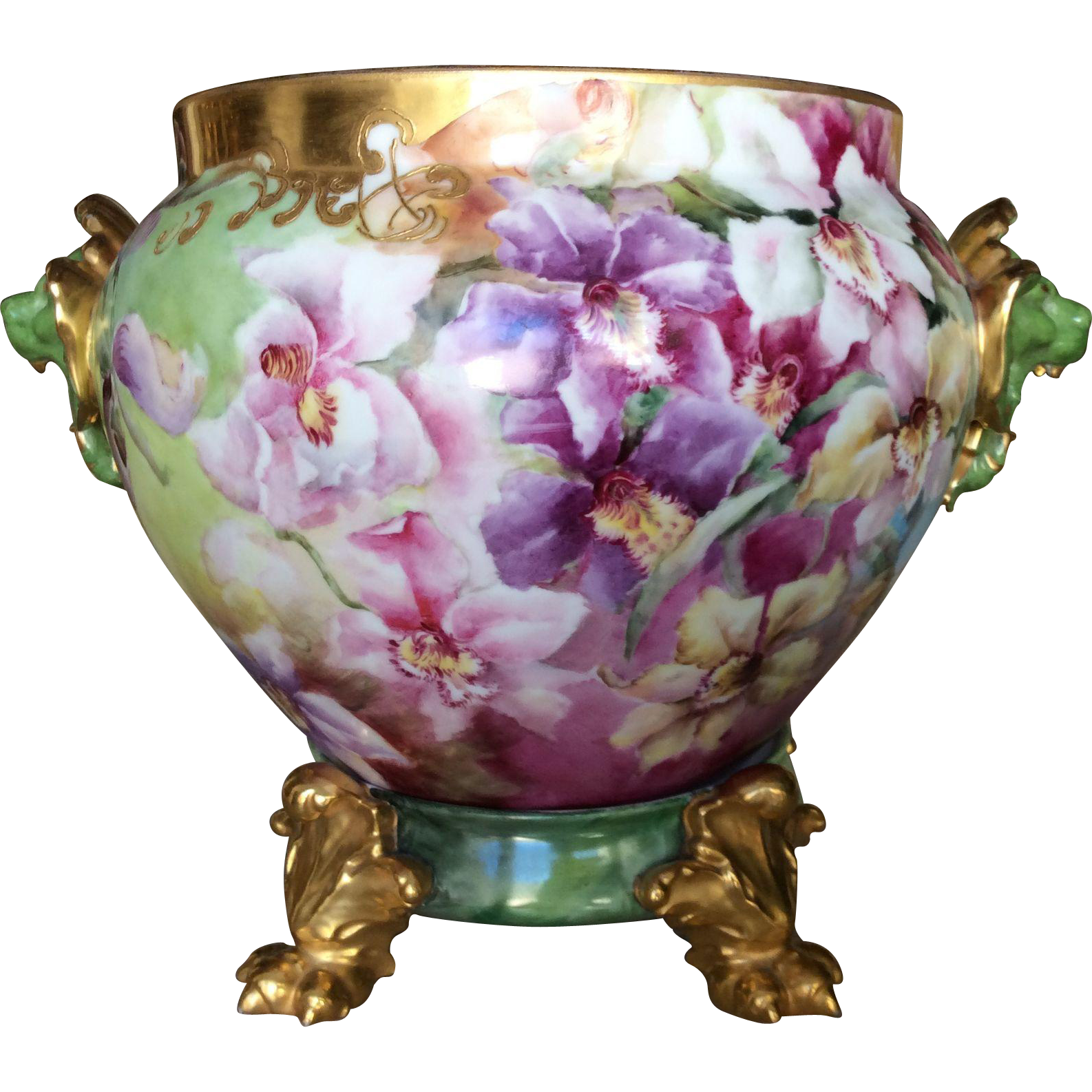 Stunning most unusual limoges orchid jardiniere orchids