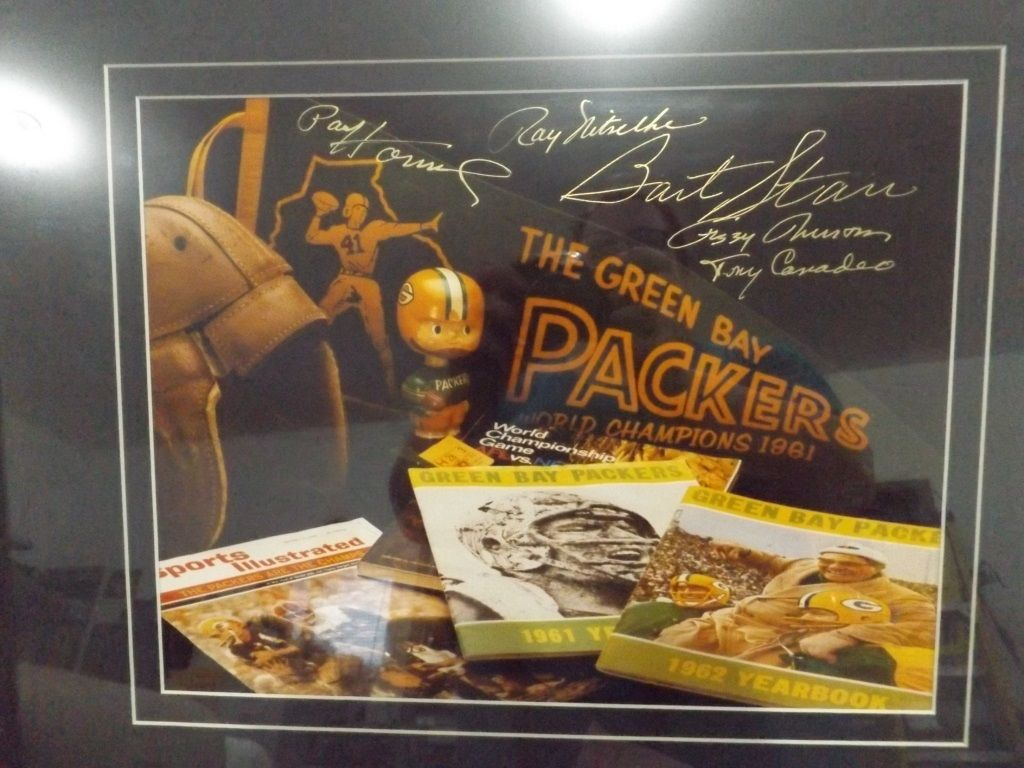 GREEN BAY PACKERS SIGNED FRAMED POSTER Green bay packers