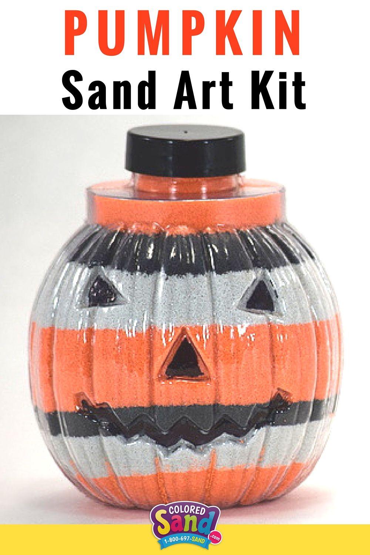 Large Pumpkin Bottle (With images) Sand art crafts