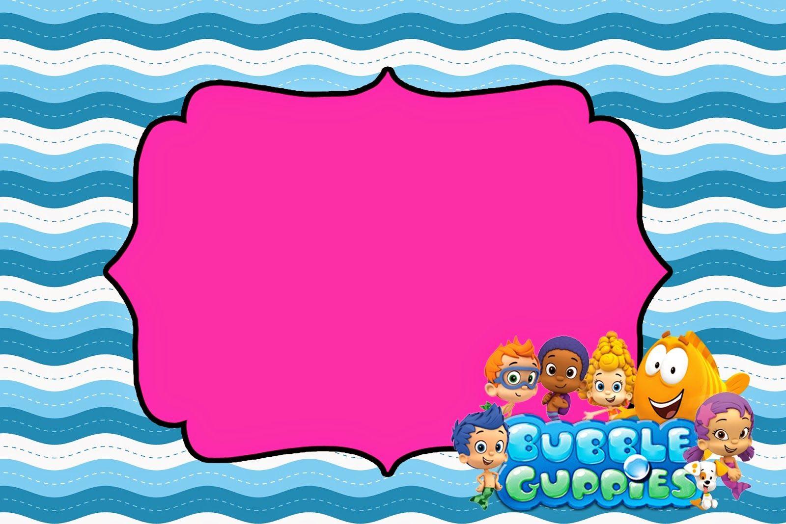 invitacion para Valentina | tarjeta | Pinterest | Guppy, Bubble ...