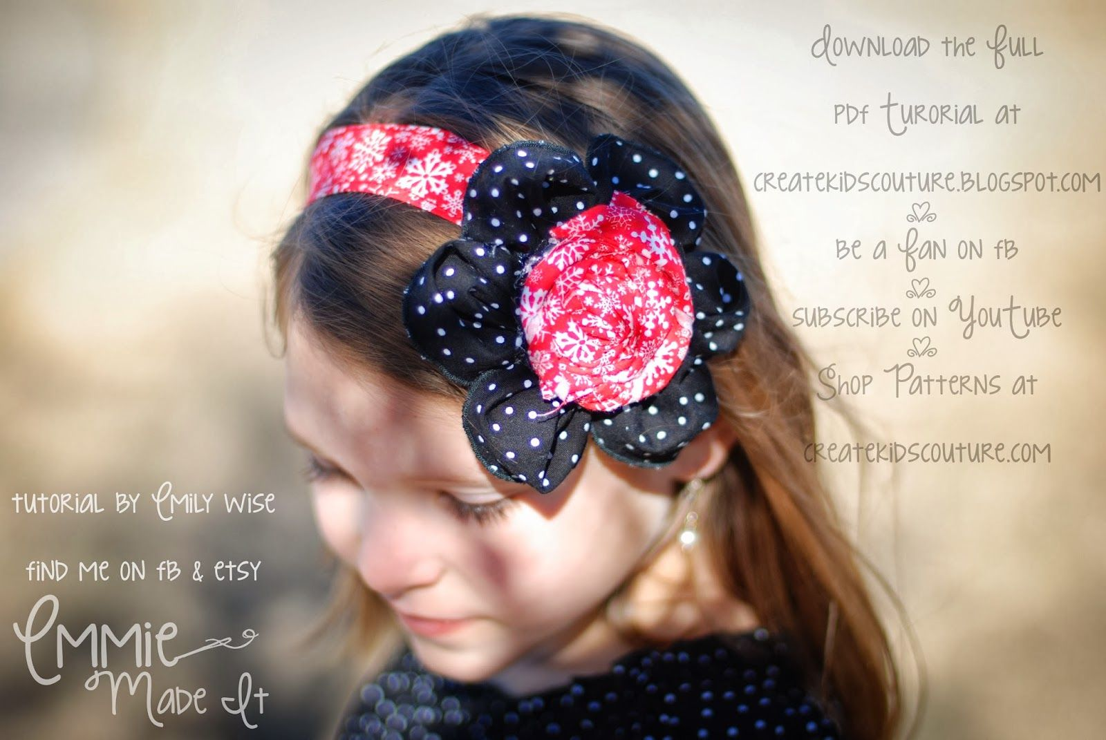 Pretty Petals Flower Bow - FREE Pattern from Create Kids Couture and Emmy Made It