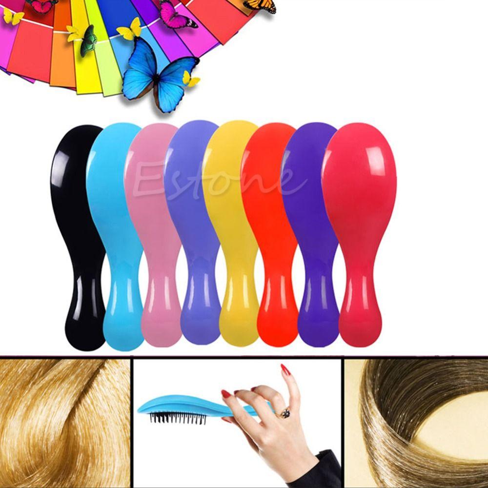 Detangling Cepillo de pelo Peines Magia Maraña Ducha de la Manija Herramienta Styling Salon Tamer