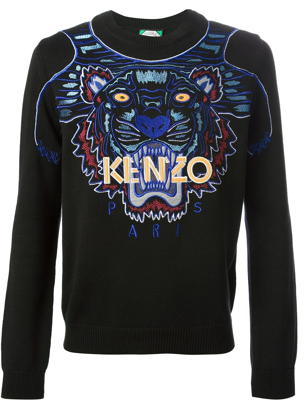 Kenzo Embroidered Tiger Sweater Farfetch Sweaters Kenzo Embroidered [ 1334 x 1000 Pixel ]