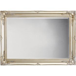 scroll mirror silver 90 x 65cm from. Black Bedroom Furniture Sets. Home Design Ideas