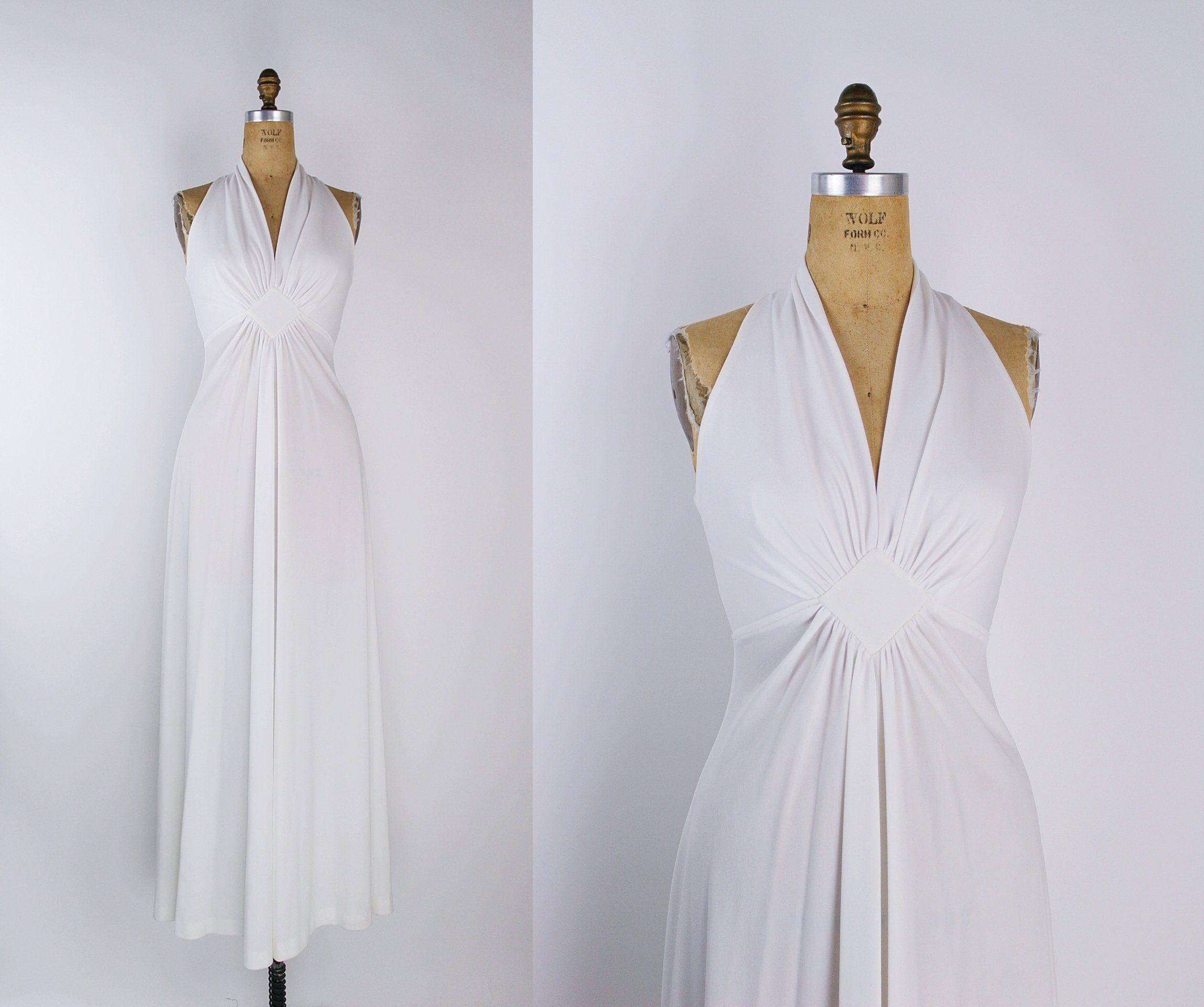 70s White Wedding Maxi Dress White Disco Dress Halter Etsy Maxi Dress Wedding Disco Dress Wedding Dress Sizes [ 1920 x 2296 Pixel ]