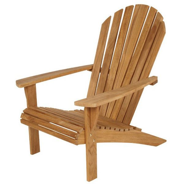 Barlow Tyrie Adirondack Teak Armchair ($1,079) ❤ liked on Polyvore ...