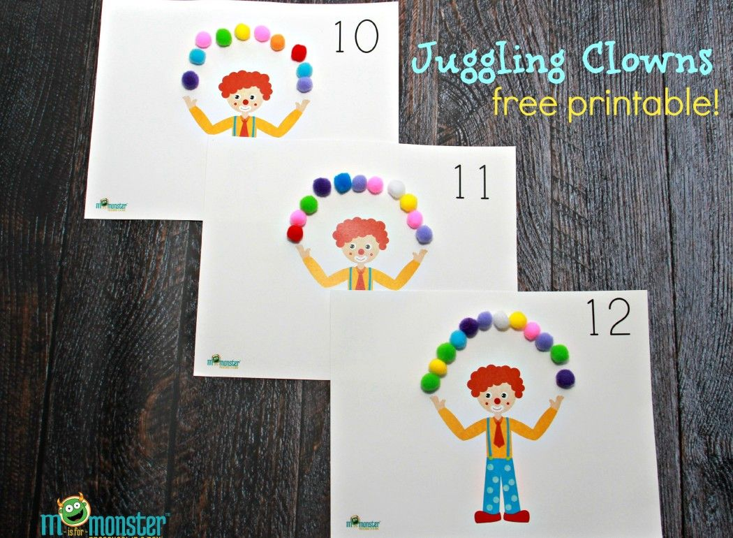 Juggling Clown Counting Activity