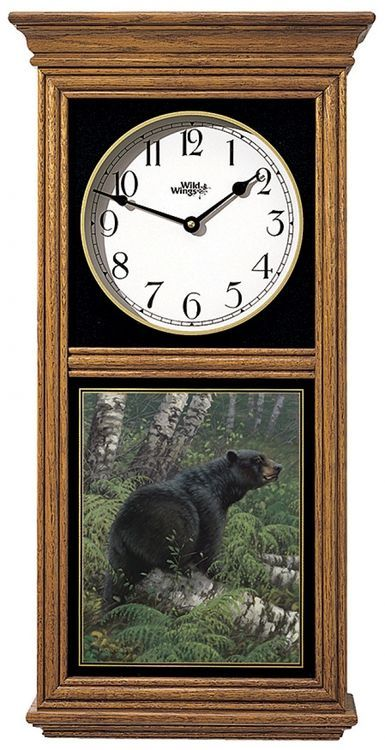 Black Bear Regulator Clock