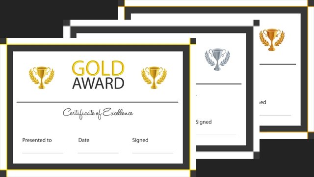 gold certificates templates