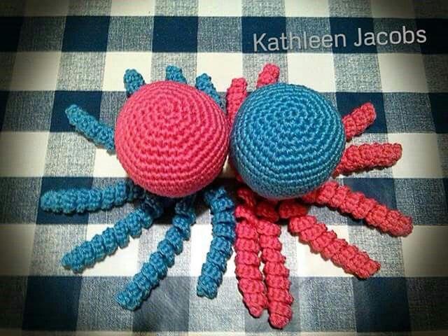 Deze inktvisjes zijn gemaakt door Kathleen  Jacobs.