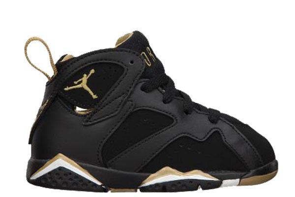 sports shoes c5be1 77d2b Black/Gold 7s | Baby Jordan Sneakers | Sneakers, Sneakers ...