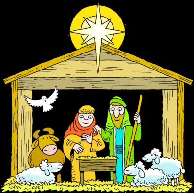 Mary Joseph Baby Jesus Manger Clipart