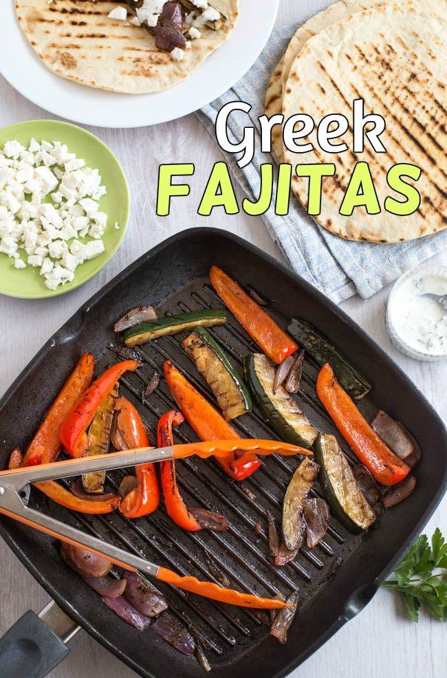 Greek fajitas easy vegetarian fajitas made mediterranean with greek fajitas easy vegetarian fajitas made mediterranean with balsamic vinegar feta cheese and forumfinder Gallery