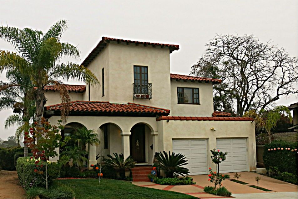 3 Part Arched Portico To Doorway Spanish Style Homes Colonial House Plans Craftsman Style Bungalow