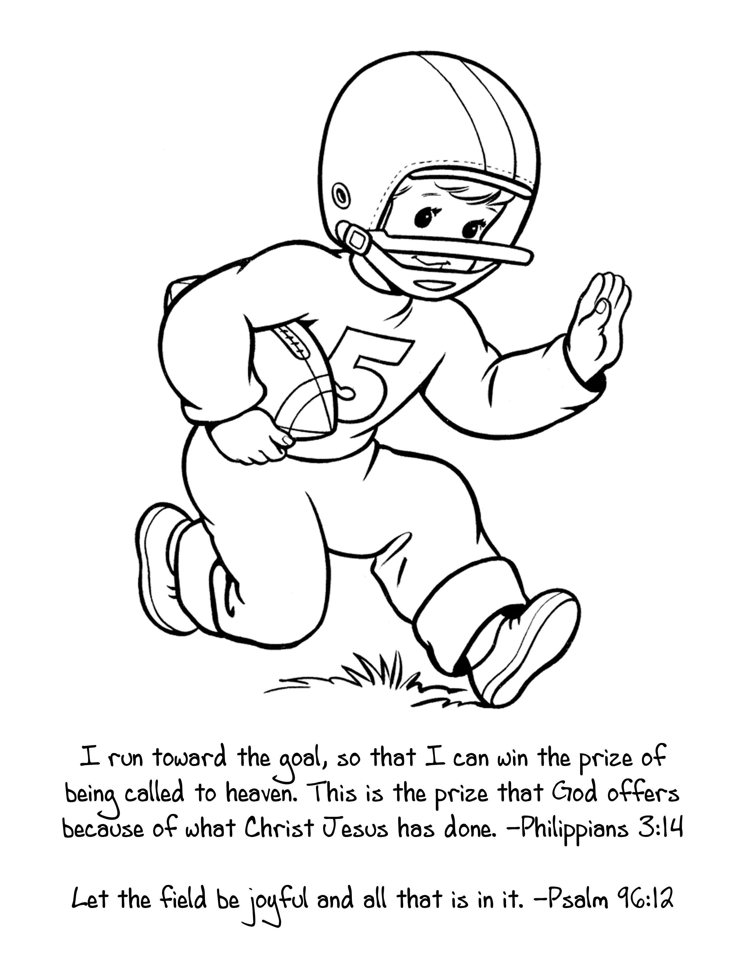 Perfect Sunday School Coloring Sheet For Super Bowl Sunday