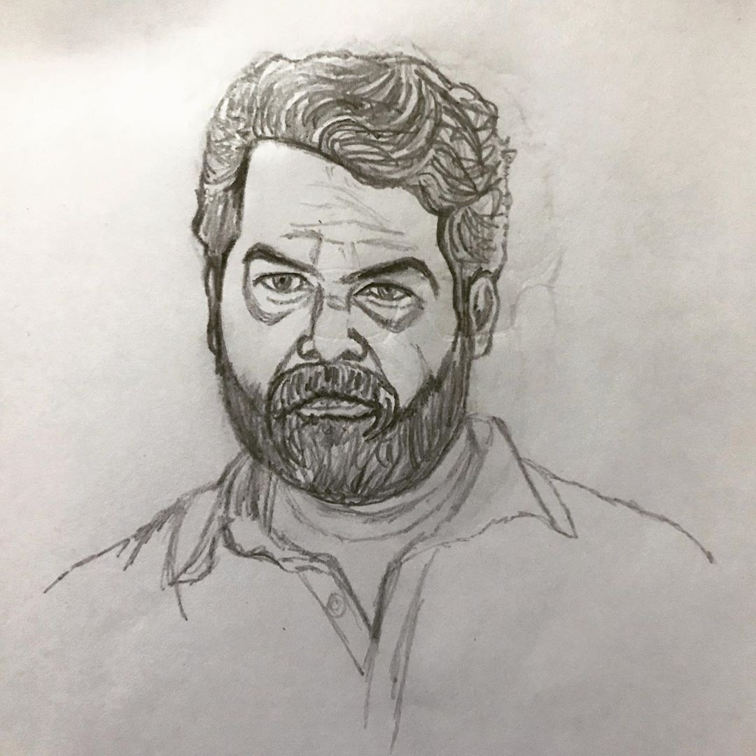 Movie Movies Film Show My Pencil Drawing Of Malayalam Actor Joju George In His Movie Joseph Ata Quot Anandtheartistquo Movie Blog Drawings Sketches