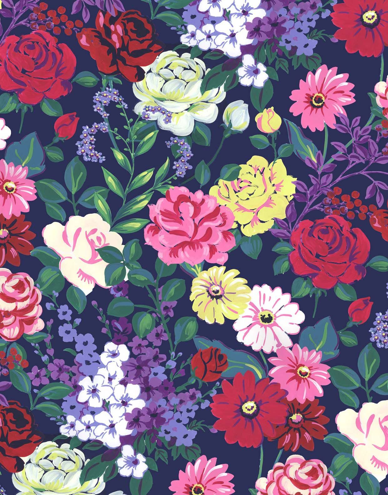 DESIGNS Painterly floral Pattern art, Floral painting