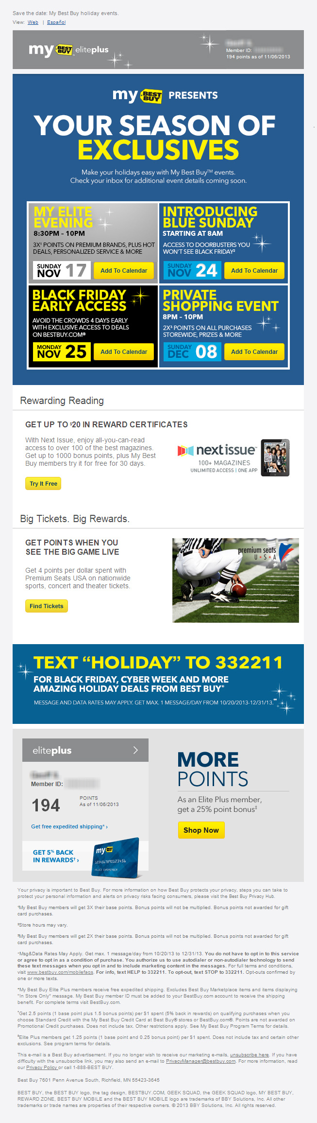 Gagemo Save The Date My Best Buy Holiday Events Holidays And Events Black Friday Email Design I Am Awesome