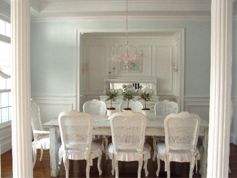 Article le shabby chic cottage chic salle salle - Salle a manger shabby chic ...
