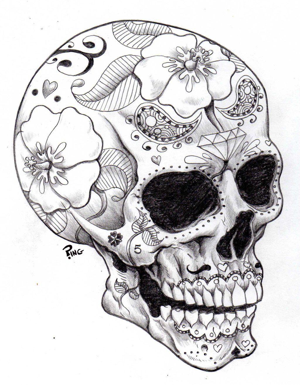 Afbeelding Van Http Img03 Deviantart Net 9ceb I 2013 023 3 C Sugar Skull Ping By Pingriff D5sga57 Jp Kleurplaten Kleurplaten Voor Volwassenen Schedel Ontwerp