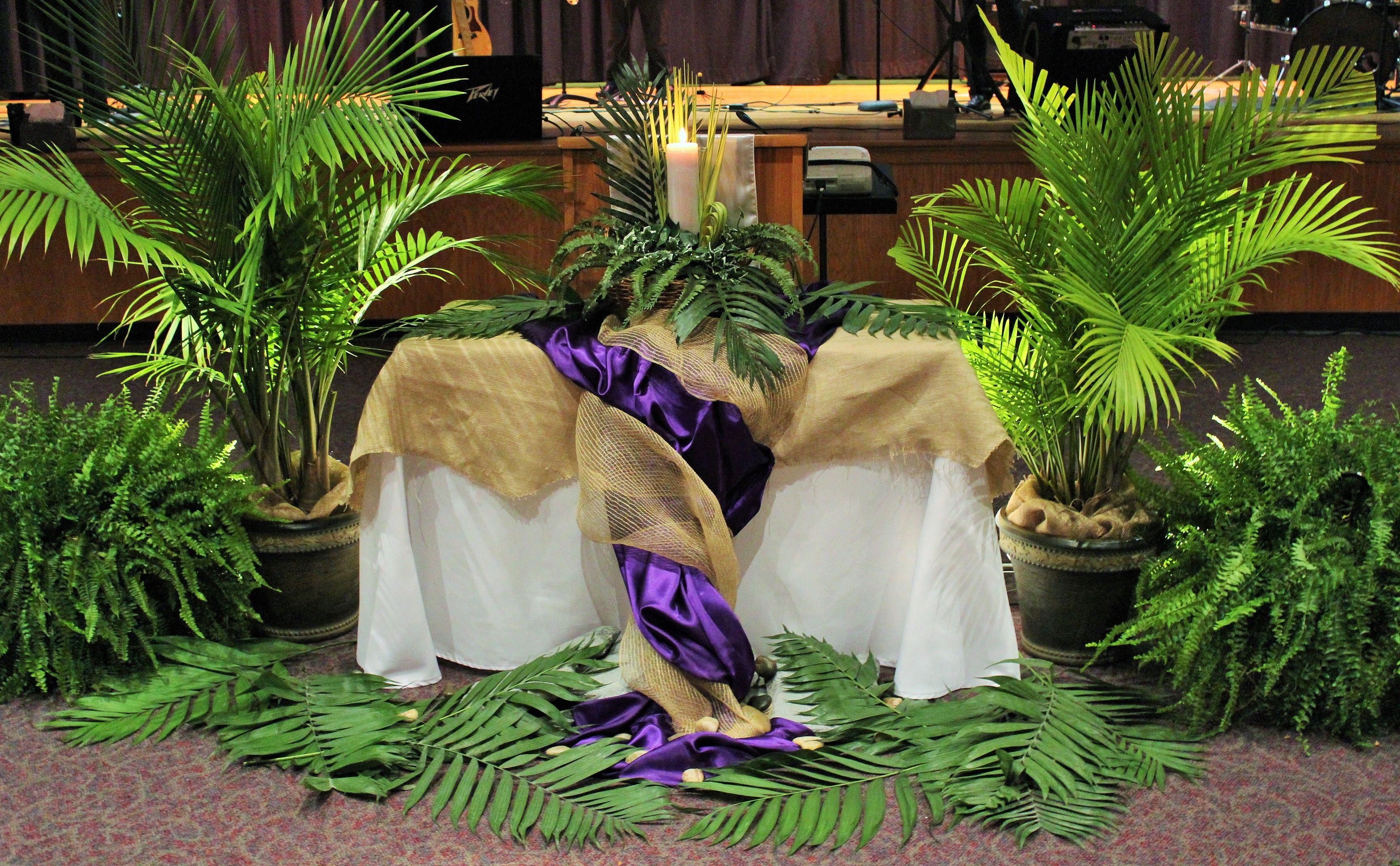 Resurrection Sunday Altar #Easter #ResurrectionSunday #ChurchService ...