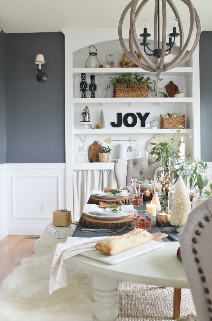 Target Photo Line Wall Decor Holiday Dining Room Built Ins Benjamin Moore Stormy Sky