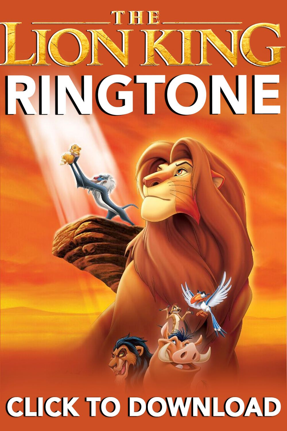 The Lion King Ringtone For Your Iphone In 2020 Lion King Ringtone Download Circle Of Life