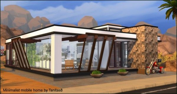 Tanitas Sims Minimalist Mobile Home Sims 4 Downloads Sims 4