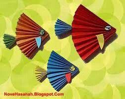 Ikan Dari Piring Kertas Gambar Hiasan Origami Ide Kerajinan