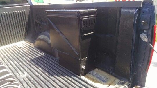 Homemade Truck Tool Box Or Storage Box With Pull Out Drawer Made