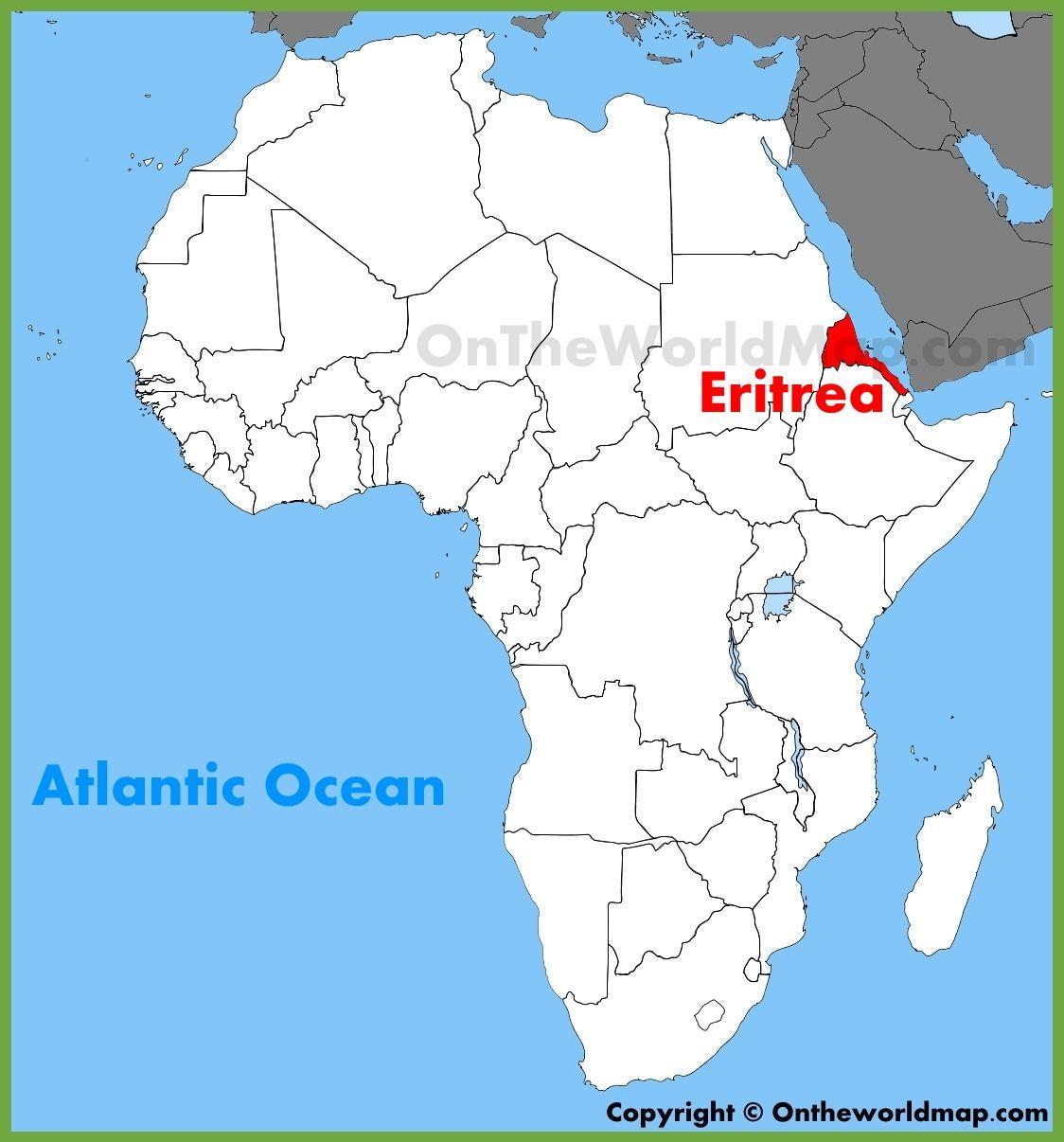 africa map eritrea