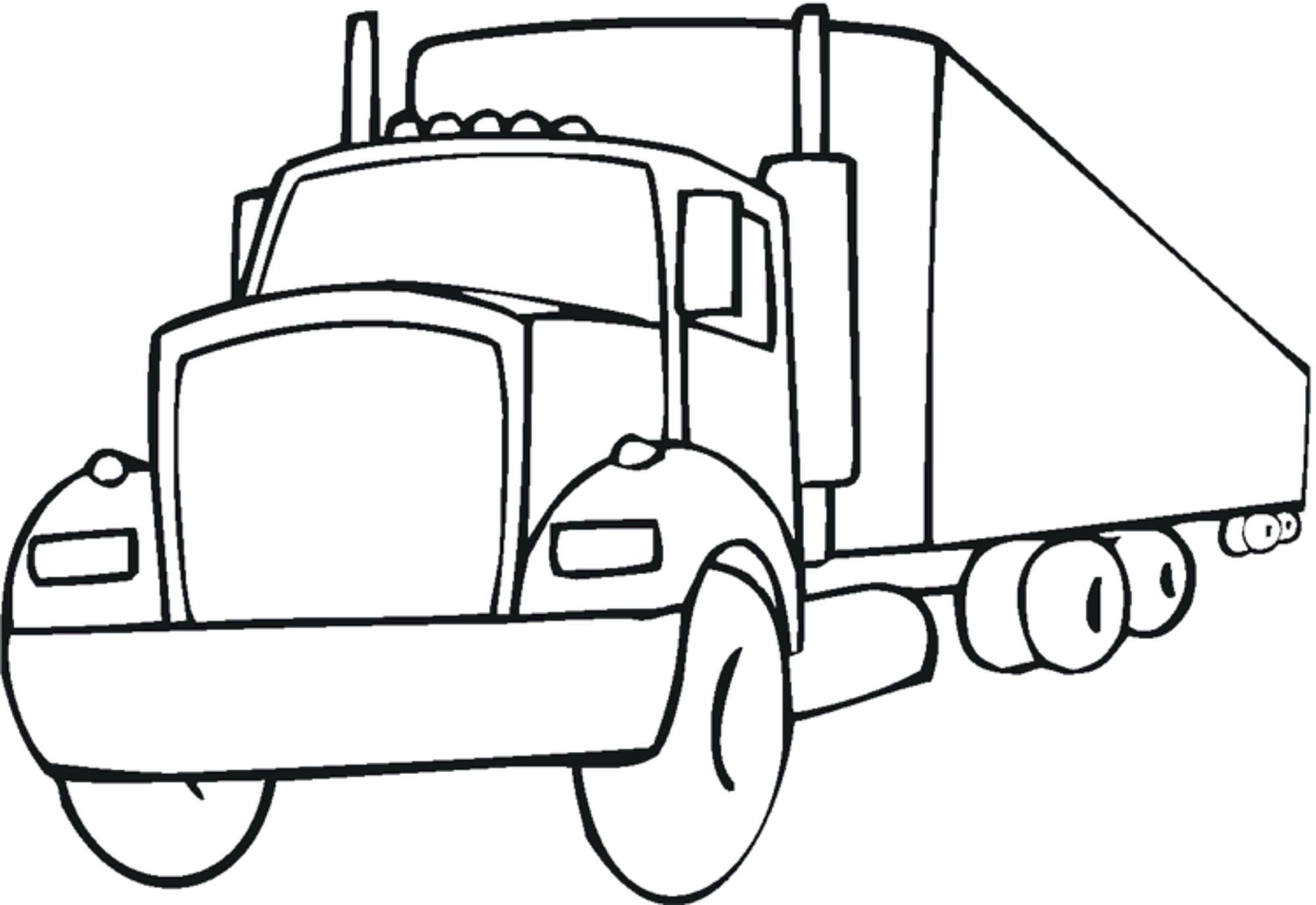 Easy Little Kid Coloring Pages Truck Coloring Pages Coloring Pages For Boys Tractor Coloring Pages