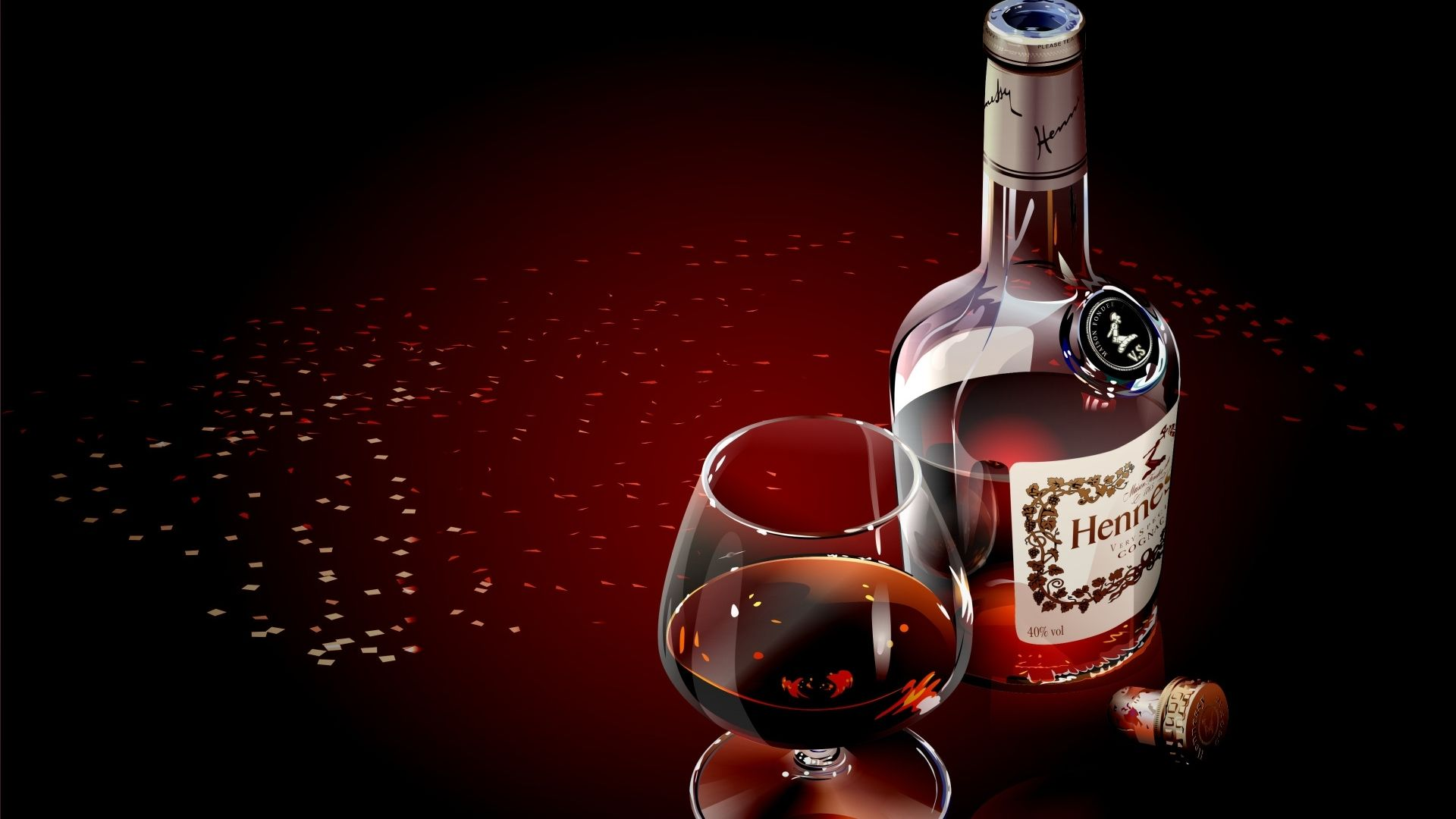 Download Wallpaper 1920x1080 Hennessy Glass Cognac Luxury Alcohol Table Full Hd 1080p Hd Background Wine Wallpaper Wine Bottle Red Wine Bottle