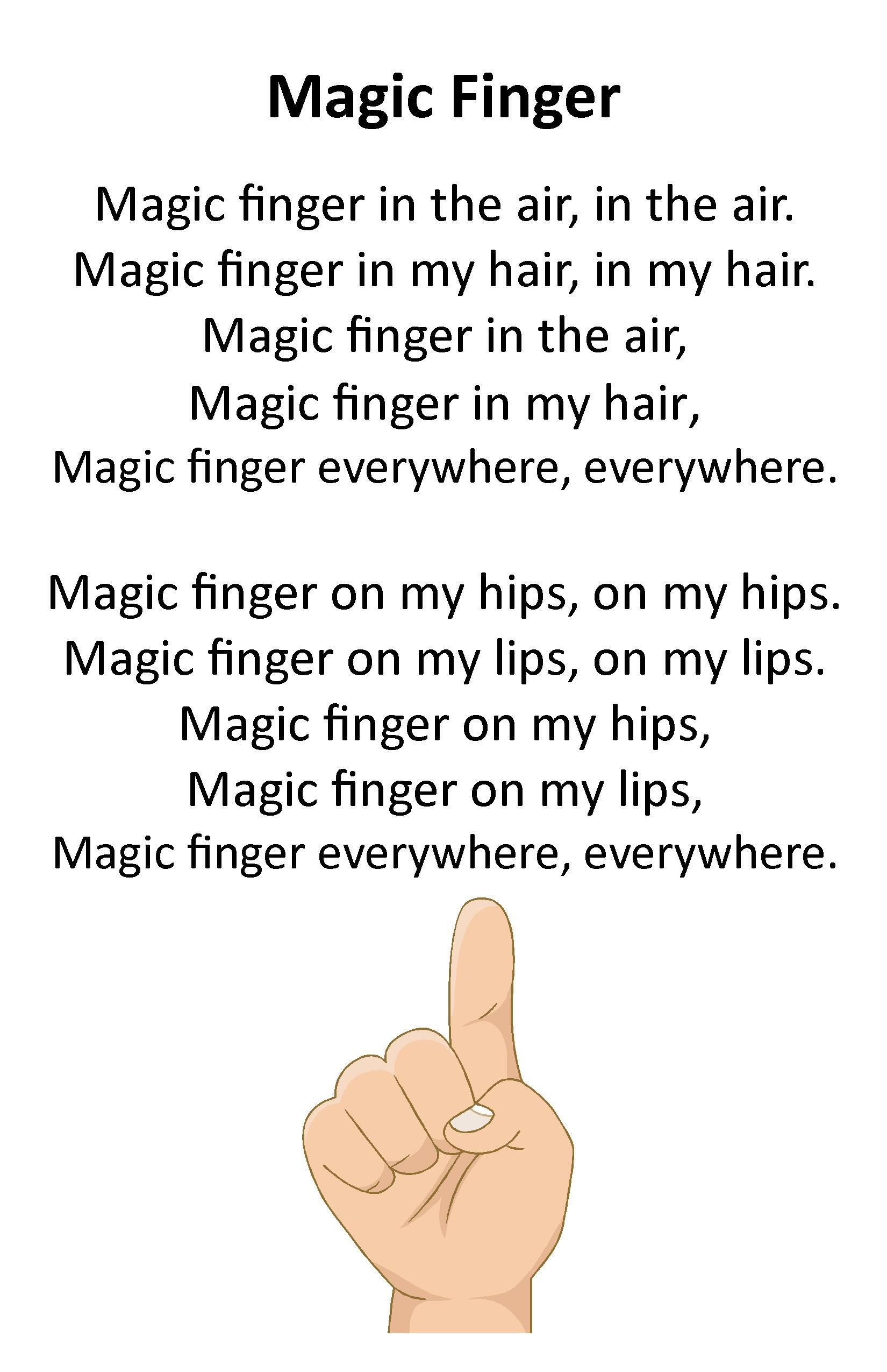 Itty Bitty Rhyme Magic Finger