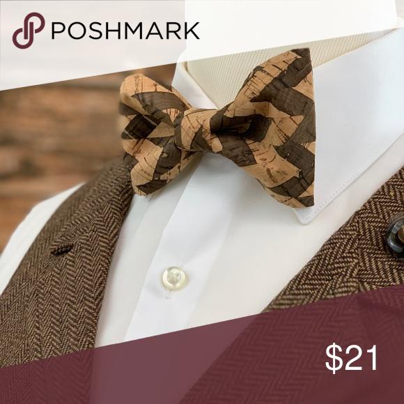 Real Weddings Cork: Men's Rustic Style Cork Wood Bow Tie Men's Rustic Style