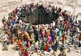 People will flock to sources of water as the scarcity increases and eventually these will promote much violence.