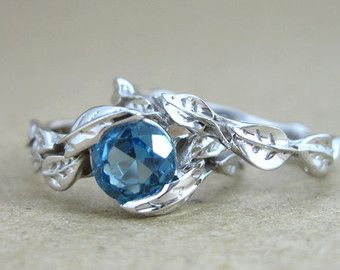 wedding set unique engagement ring white sapphire by benati - Topaz Wedding Ring