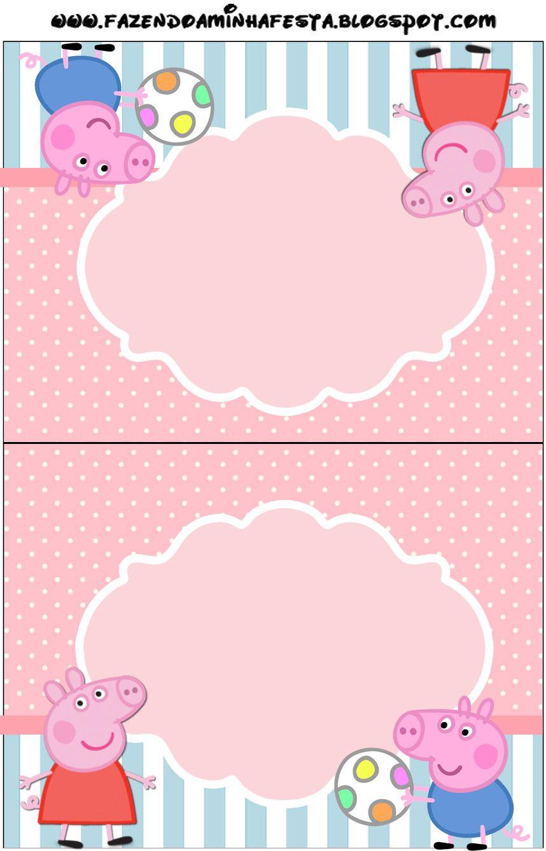 Peppa Pig Invitaciones Para Imprimir Gratis Creatividad