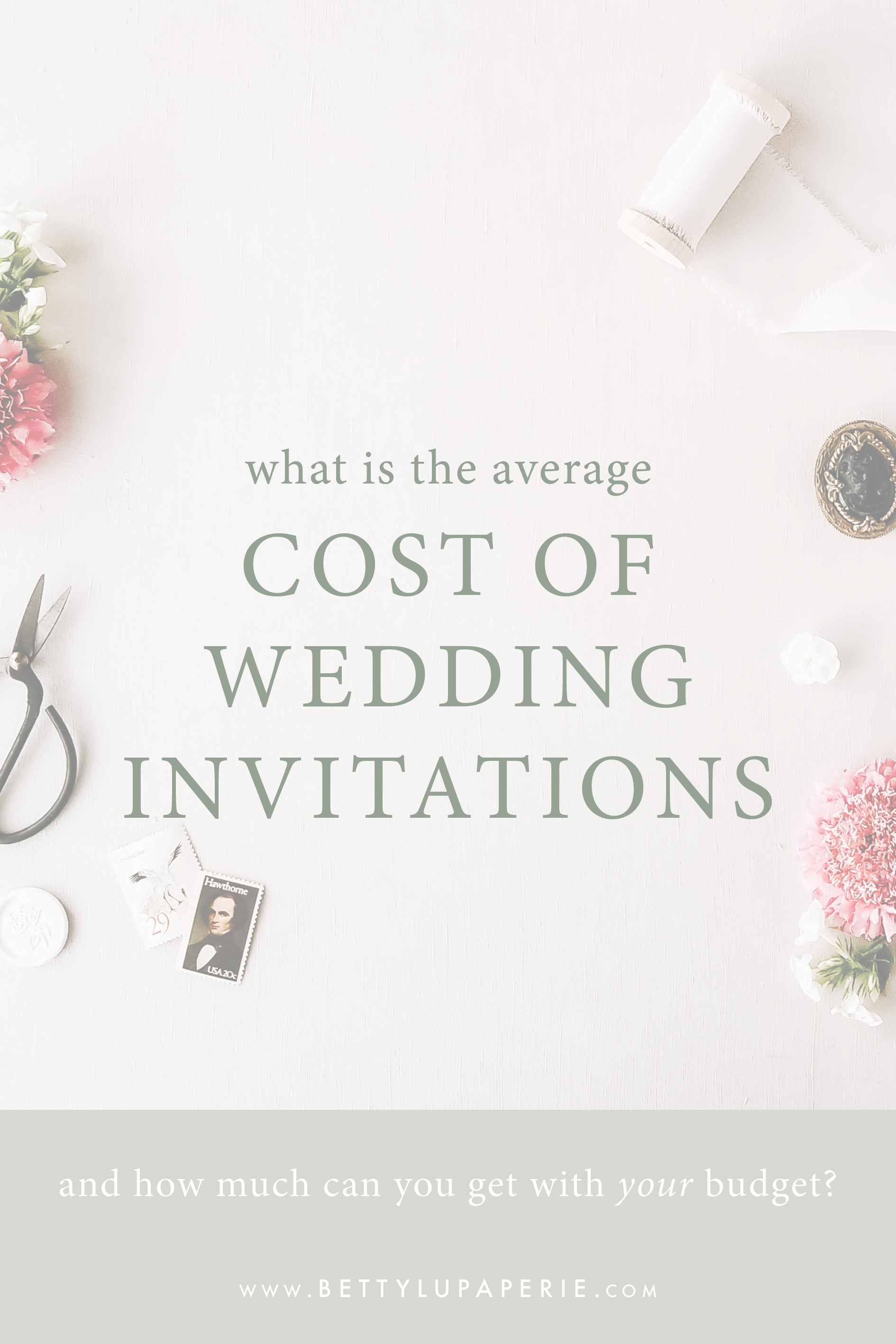 What Is The Average Cost Of Wedding Invitations Floral Wedding Invitations From Betty Lu Paperie Wedding Costs Floral Wedding Invitations Wedding Invitation Wording Examples