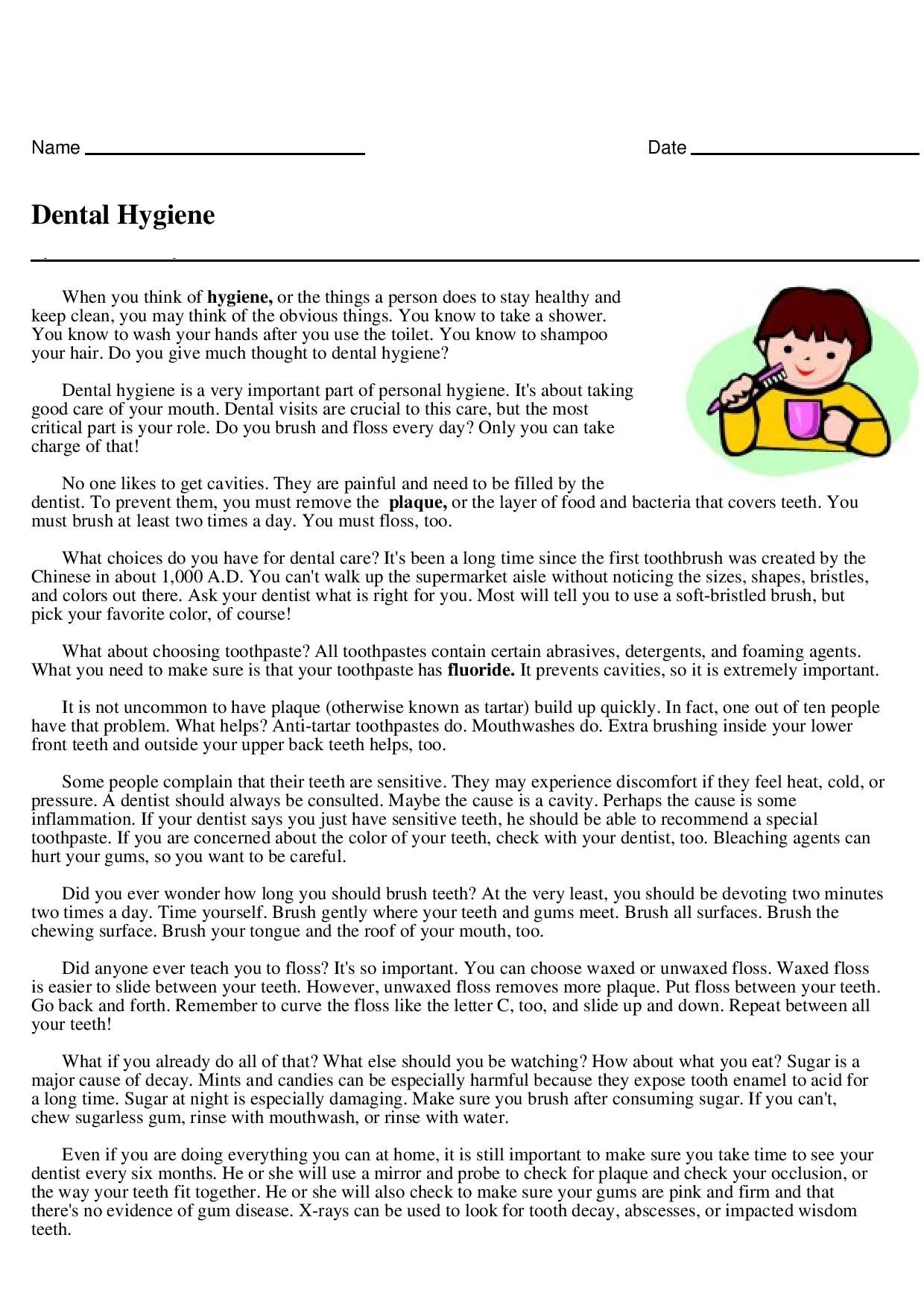 Dental Hygiene Routine Page 1 Jpg 1240 1754 Hygiene Routine How To Stay Healthy Keep It Cleaner