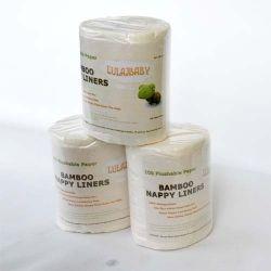biodegradowalne bibułki do pieluszek wielorazowych 100szt. bambusowe