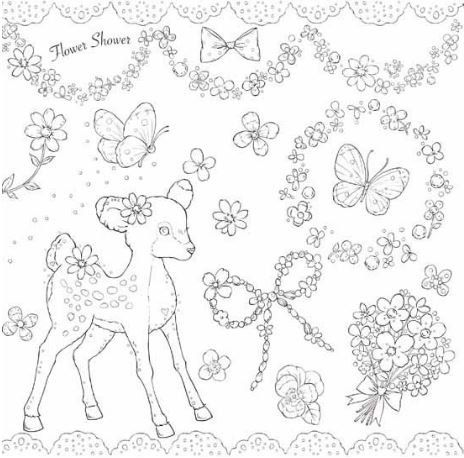 Colors Make You Happy By Miki Takei Japanese Coloring Book Etsy Cute Coloring Pages Coloring Books Coloring Pages