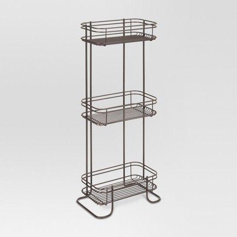 3 Tier Bathroom Storage Shelves Bronze